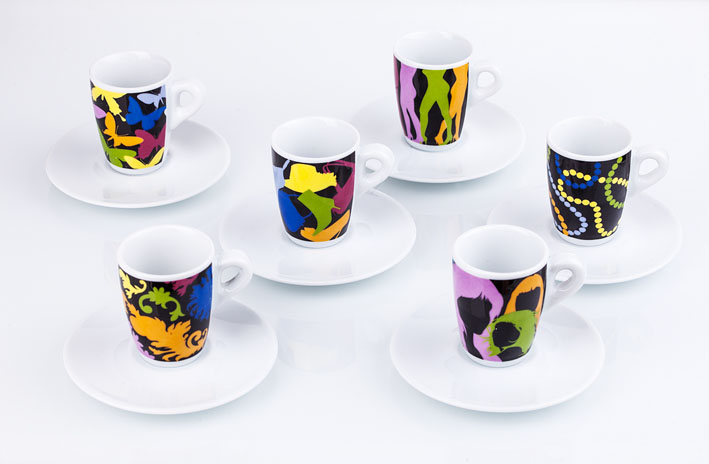 CAFFE' - Tazze e tazzine da caffíin porcellana Fashion Victim