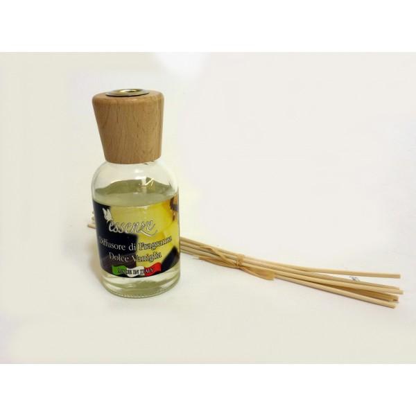 Diffusore di fragranza con bastoncini - Dolce Vaniglia