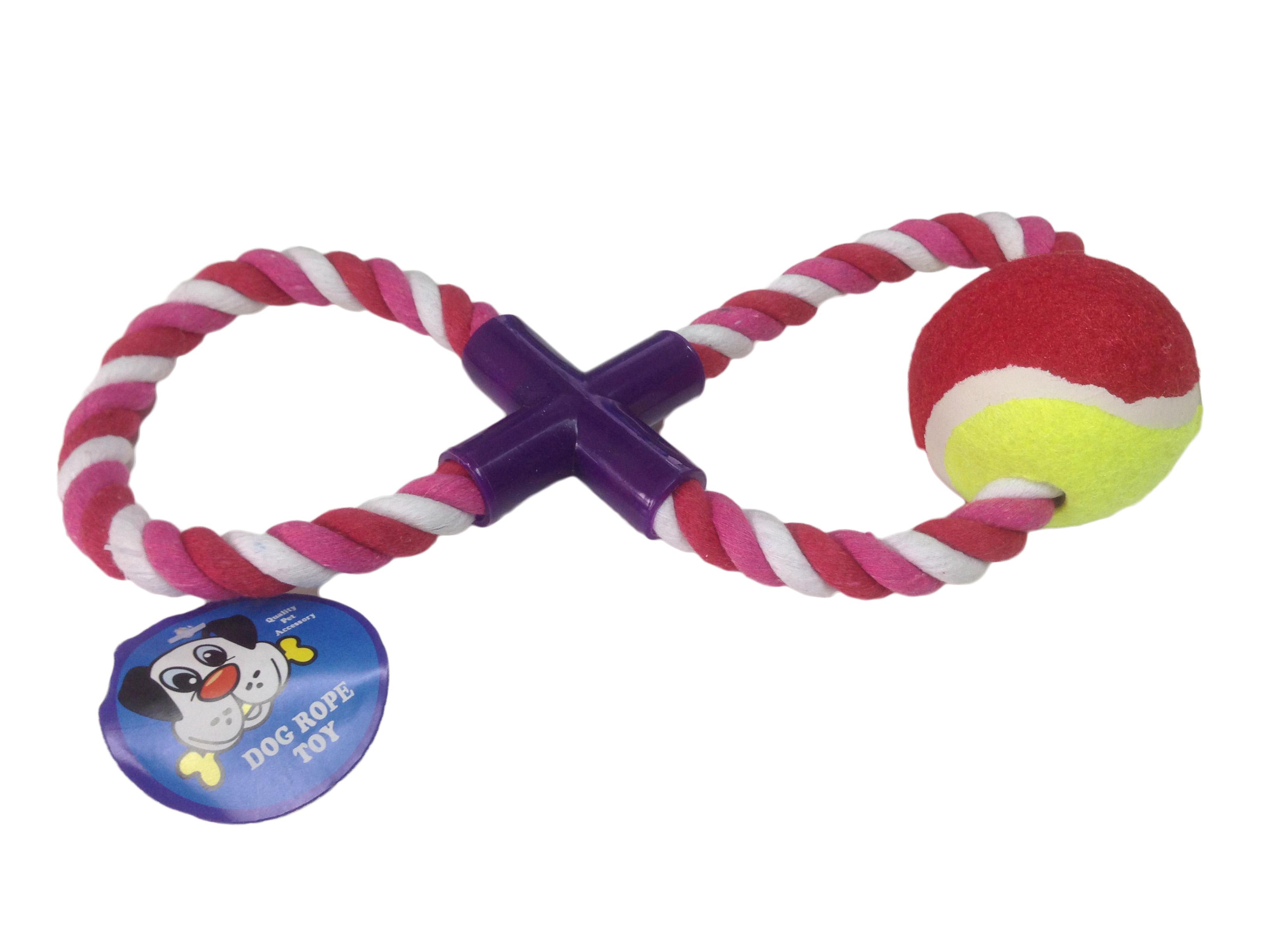 Gioco per cane con palla da tennis
