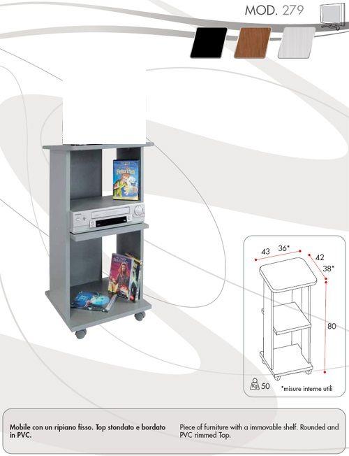 Mobile Porta Tv Guarnieri Gn-279 Nero