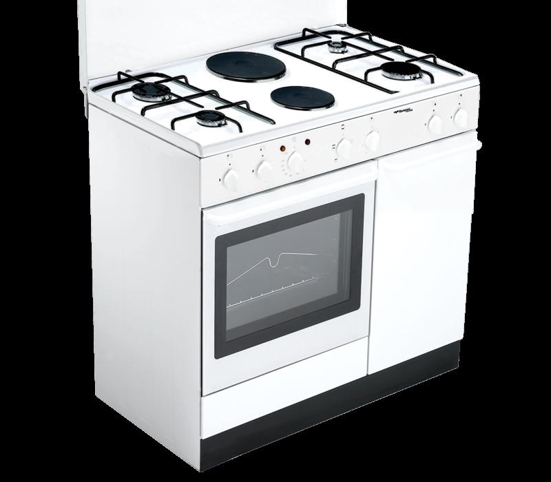 Cucina Bompani 90X60 A Gas+2 Piastre Elettriche Grill+Forno Elettrico