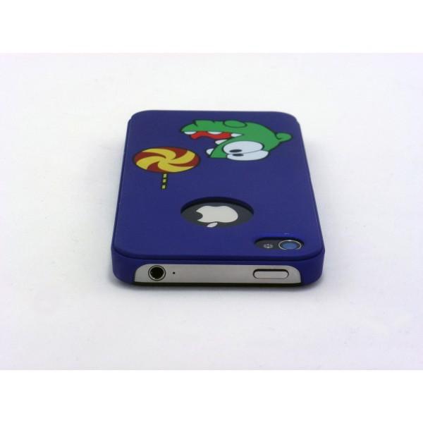 Cut The Rope - Custodia iPhone 4 e 4s - Blu