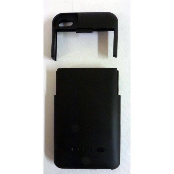 Custodia caricabatterie per iPhone 4 e 4s - Colore Nero