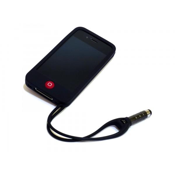 Custodia per iphone 4 e 4s con pennino - Nero