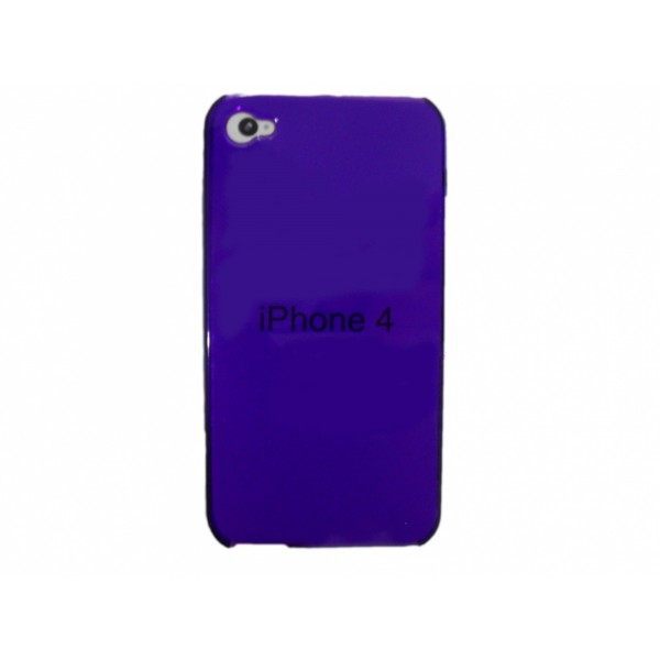 Custodia iPhone 4 e 4s - Viola trasparente