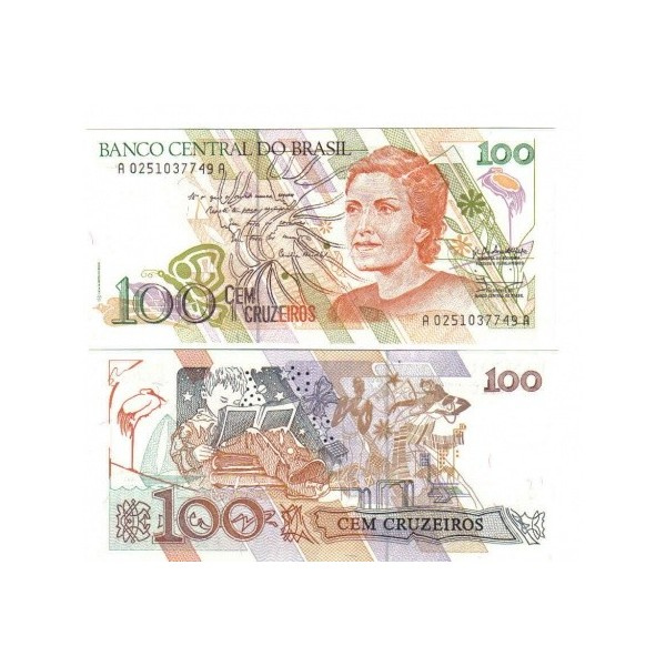 Banconota Fior Di Stampa - 100 Cruzados - Brasile