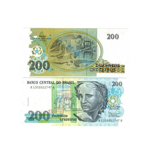 Banconota Fior Di Stampa - 200 Cruzados - Brasile