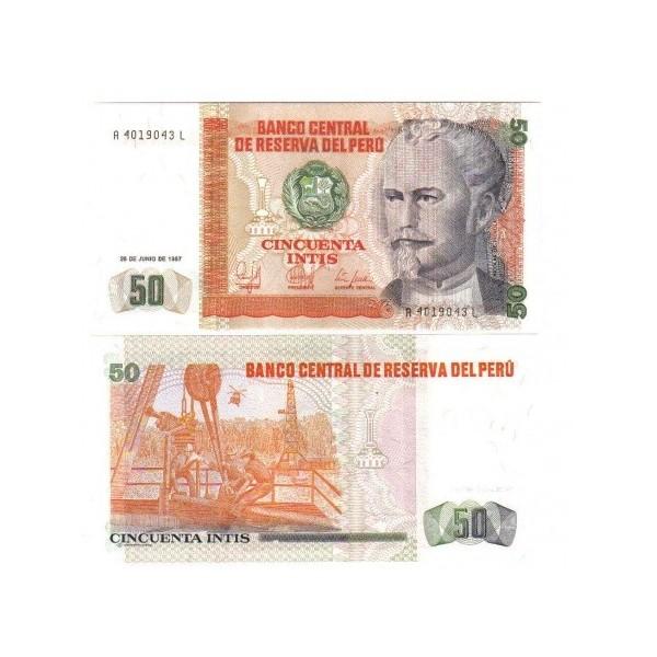 Banconota Fior di Stampa - 50 Intis - Perí_