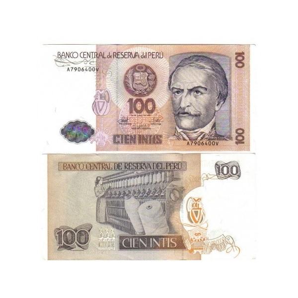 Banconota Fior Di Stampa - 100 Intis - Perí_