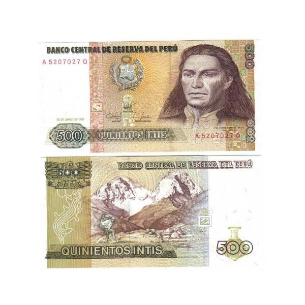 Banconota Fior Di Stampa - 500 Intis - Perí_
