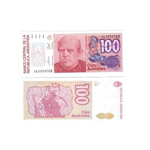 Banconota Fior Di Stampa - 100 Australes- Argentina