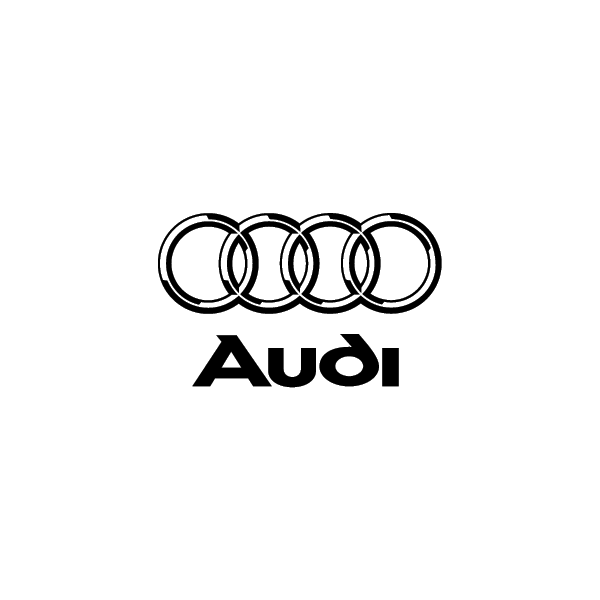 Audi - Adesivo Prespaziato - Colore Nero - 10cm