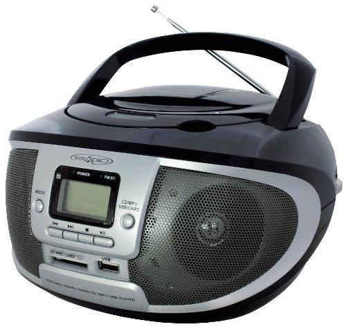Radio Cd-Mp3 Boombox Con Radio Am/Fm E Usb/Sd Colore Nero Cdku-55C