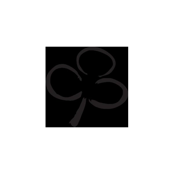Trifoglio-Adesivo-Prespaziato-Colore-Nero-10cm