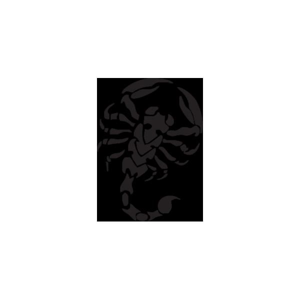 Scorpione - Adesivo Prespaziato - Colore Nero - 10cm