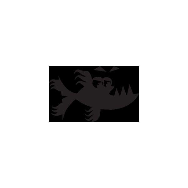 Squalo 1 - Adesivo Prespaziato - Colore Nero - 10cm