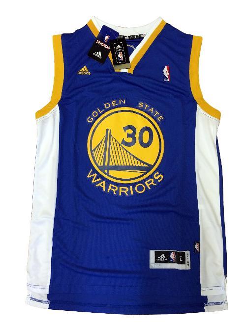 Maglia canotta NBA - Stephen Curry Golden State Warriors- Blu Taglia L