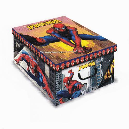 Stock 5 scatole per la casa mini box The Amazing Spider-Man-32x23x14cm
