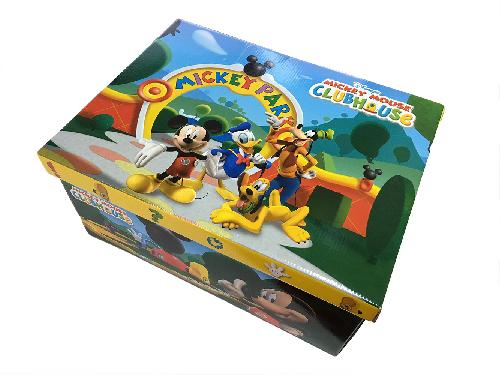Stock 5 scatole per la casa mini box Mickey Mouse Clubhouse-19x29x38cm