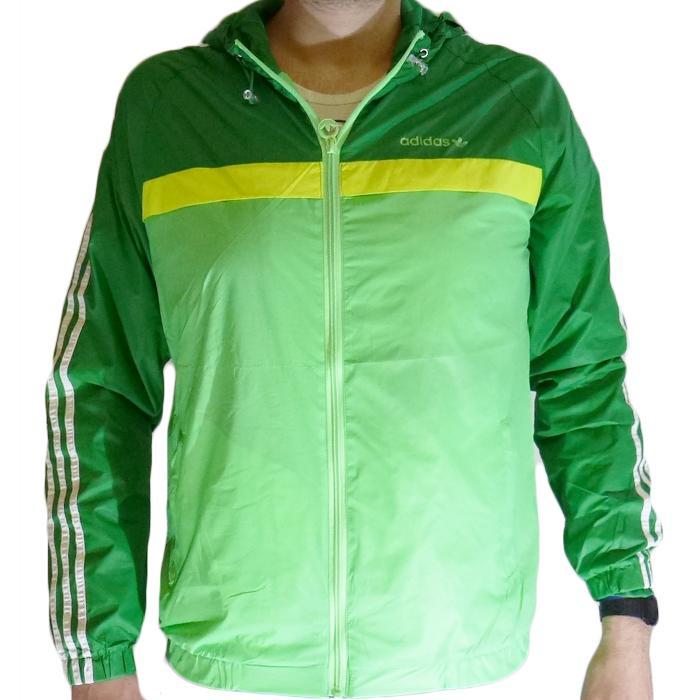 Giubbetto primaverile leggero impermeabile Adidas - Verde - Taglia S