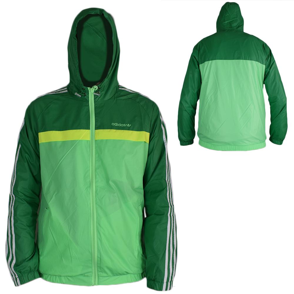 Giubbetto primaverile leggero impermeabile Adidas - Verde - Taglia L