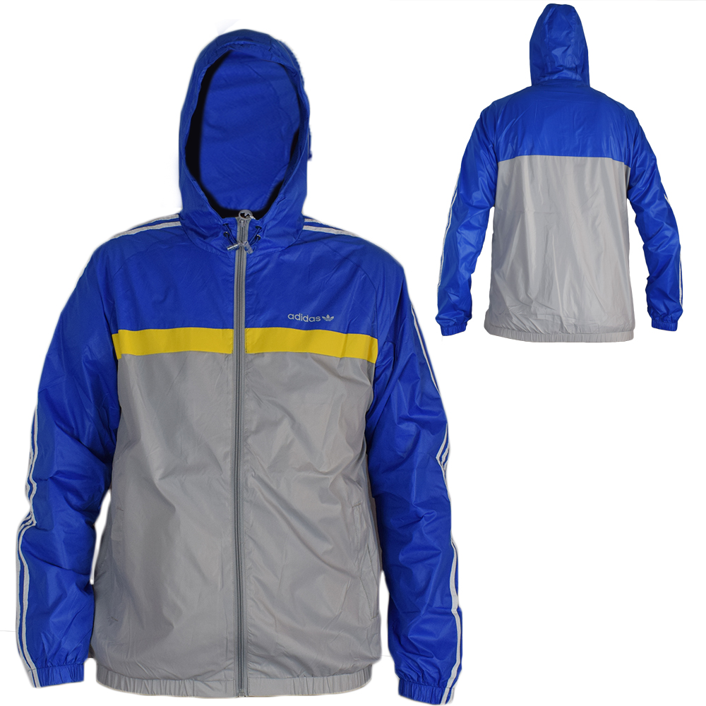 Giubbetto primaverile leggero impermeabile Adidas - Blu - Taglia XXL