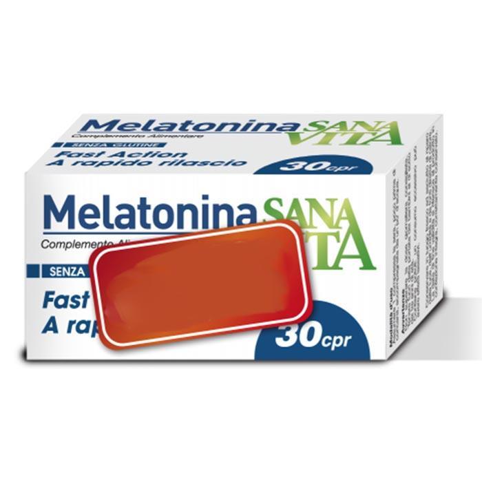 3 Sanavita Melatonina 30 Cpr -New- Integratore alimentare per dormire