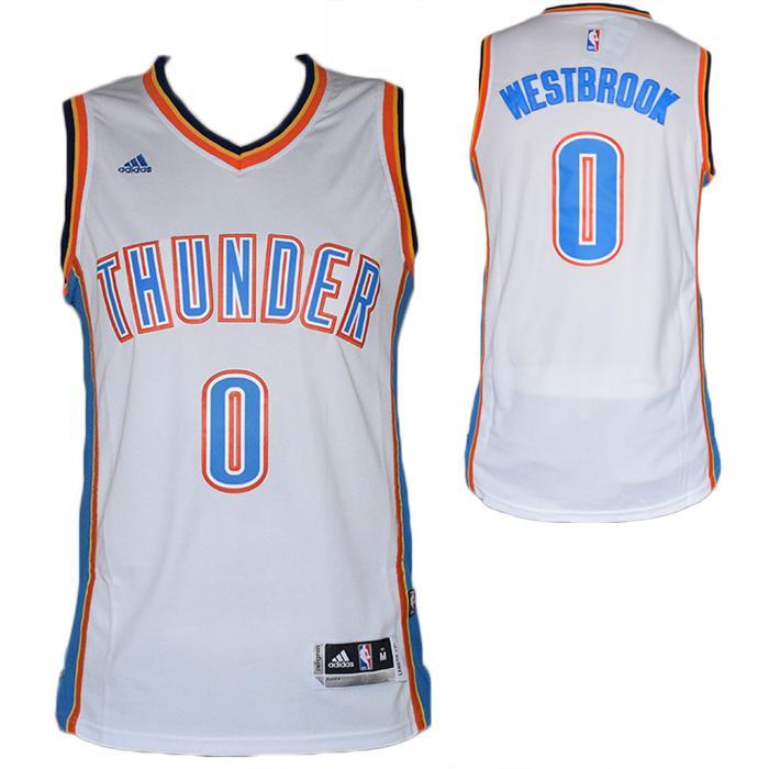 Maglia canotta NBA - Russel Westbrook Oklahoma City Thunder-Bianca