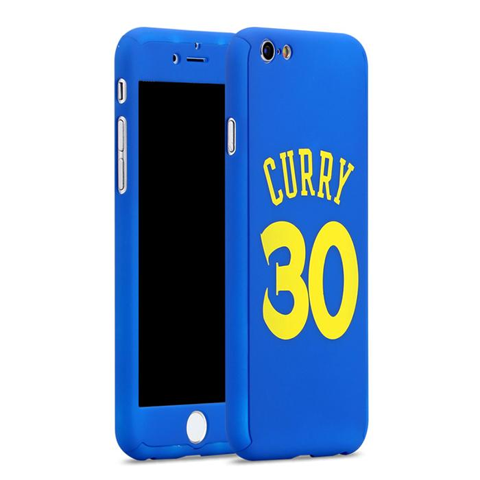 Custodia total protection iPhone 7-Stephen Curry + Pellicola Vetro-Blu