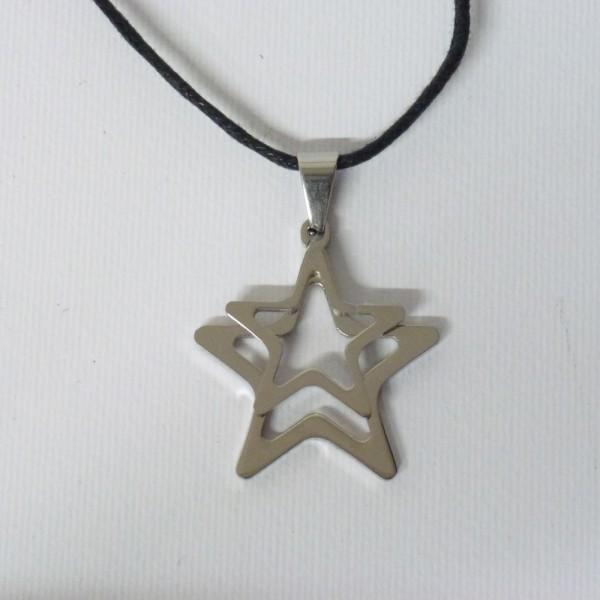 Collana unisex con doppia stella