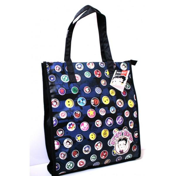 Borsa donna/ragazza Betty Boop Shopping - Colore Nero - 7151