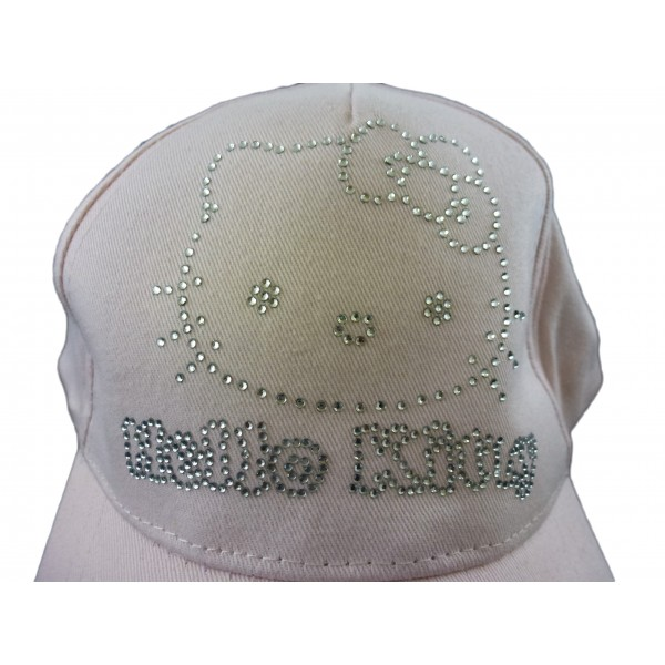 Cappellino Hello Kitty - Rosa con strass