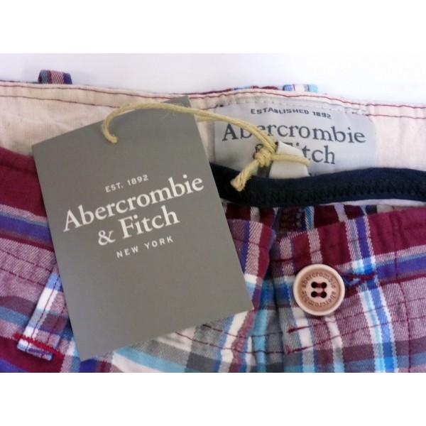Abercrombie & Fitch - Shorts Bermuda - Taglia XL - Rosso