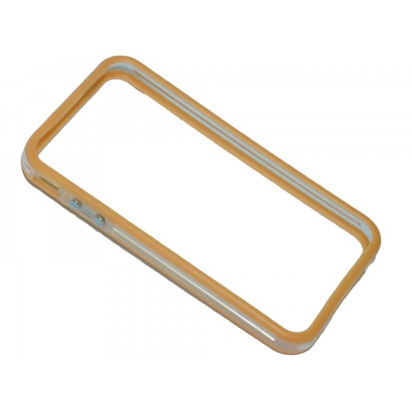 Stock 10 bumper bicolore arancione/trasparente - Iphone 4