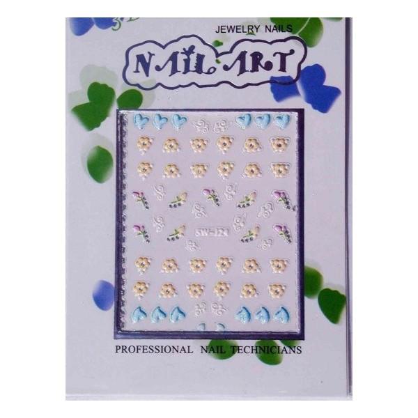 1 Confezione Adesivi 3d per unghie - 22