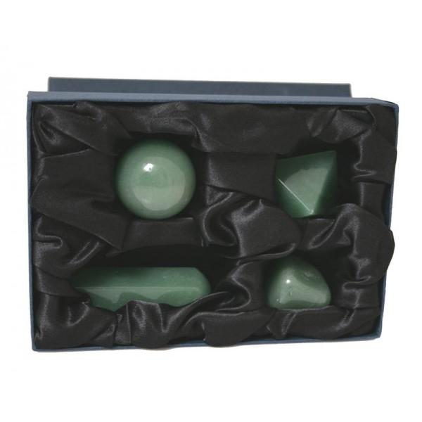 Kit per Cristalloterapia con pietra semipreziosa naturale Avventurina