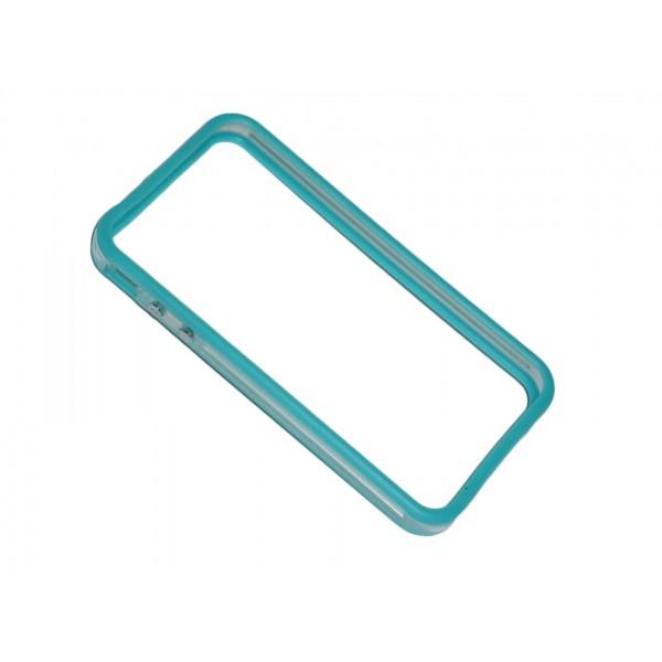 Bumper bicolore azzurro/trasparente per iPhone 4