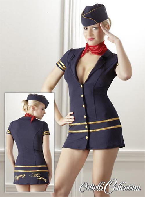 Costume Sexy Hostess di Volo Blu