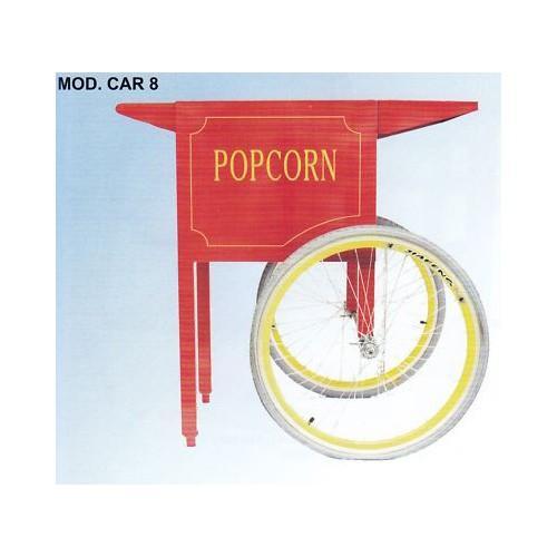 Carrello macchina pop corn popcorn fiera