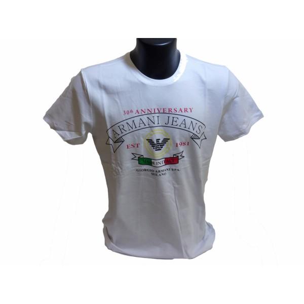 T-Shirt Armani Jeans - 30Th Anniversary - Taglia S - Colore Bianco