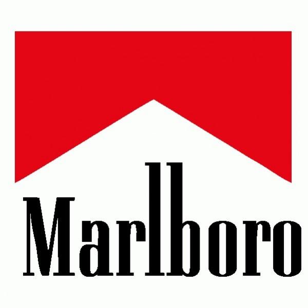 Marlboro - Adesivo Prespaziato - Colore Nero - 10cm