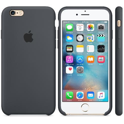Custodia Silicone Case originale Apple per iPhone 6 - 6s - Nero