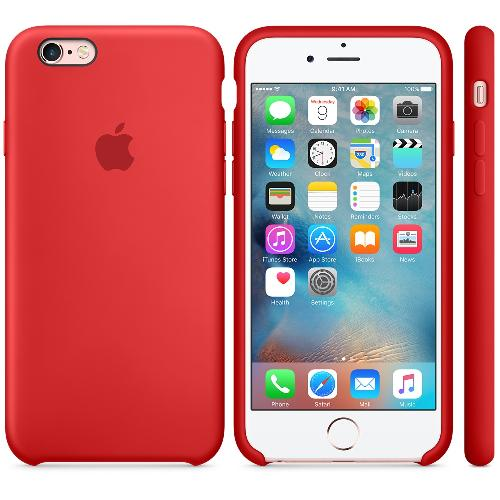Custodia Silicone Case originale Apple per iPhone 6 - 6s - Rosso