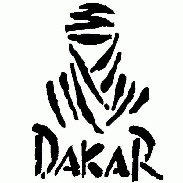 Dakar Rally - Adesivo Prespaziato - Colore Nero - 20cm