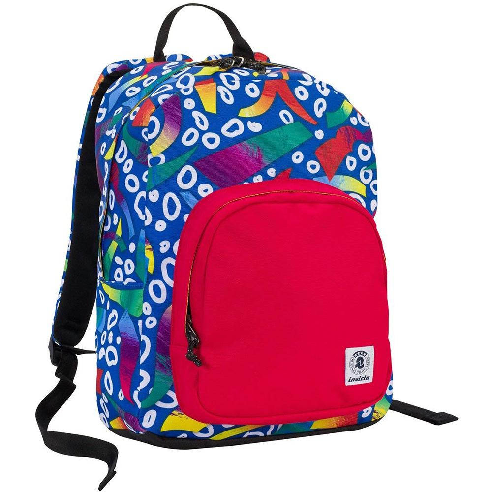 School backpack Invicta Ollie Pack Fantasy Blue Red 25lt