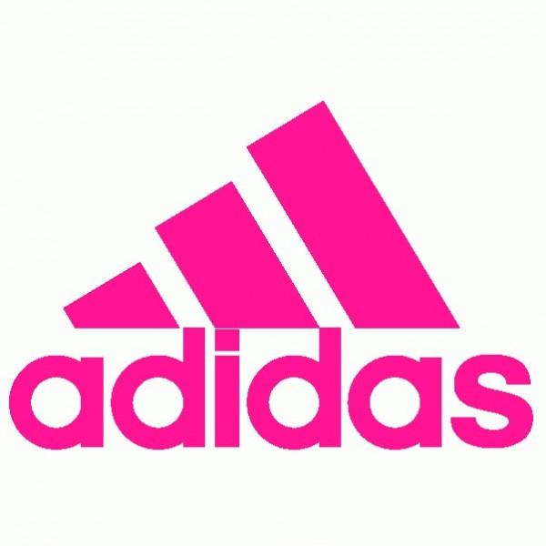 Adidas - Adesivo Prespaziato - Colore Fucsia - 10cm