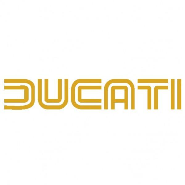 Ducati scritta 2 - Adesivo Prespaziato - Colore Oro - 10cm